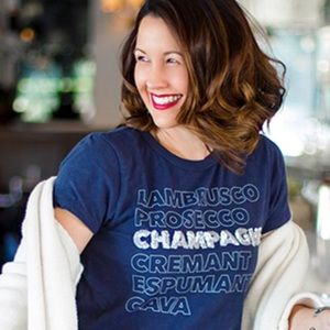 "J Crew ""Champagne"" T-shirt"